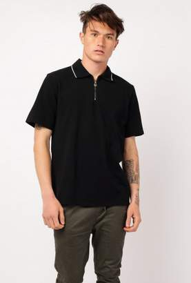 Stussy Zip Lion SS Polo Shirt