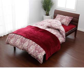 Nishikawa レッド/ブルー 羽毛掛けふとん、敷きふとん、枕、カバー、毛布、敷きパッドまで揃ったお買い得ダブルサイズ 10点セット