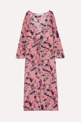 IRO Adorable Printed Crepe De Chine Robe - Pink