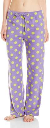 Intimo Women's Ladie's Printed Microfleece Pant