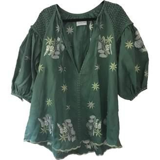 Innika Choo Green Linen Top for Women