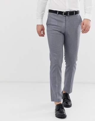 Jack and Jones slim suit pants in grey check