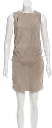 AllSaints Lace-Up Suede Dress