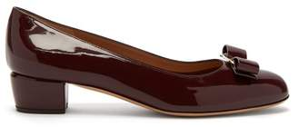 Salvatore Ferragamo Vara Patent Leather Pumps - Womens - Burgundy