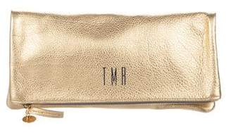 Clare Vivier Metallic Leather Clutch