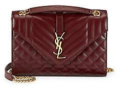 Saint Laurent Women's Medium Embossed Leather Envelope Bag