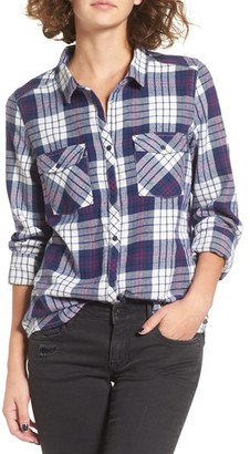 Women's Roxy Squary Cool Plaid Flannel Shirt $49.50 thestylecure.com