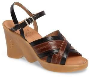 Famolare Double Cross Wedge Sandal