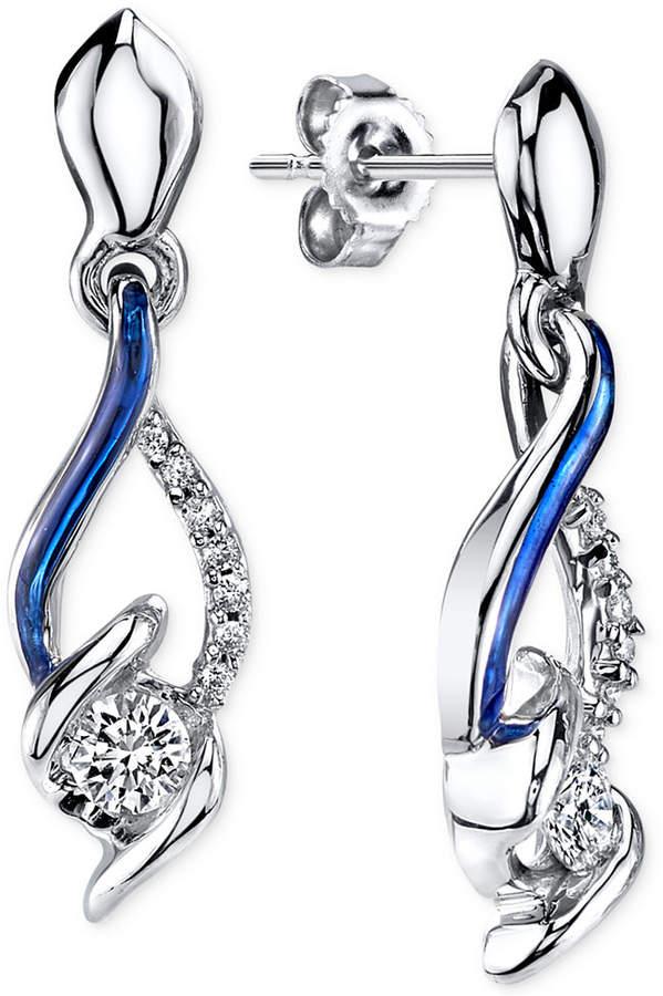 Sirena Jeans Diamond Drop Earrings in 14k White Gold (1/4 ct. t.w.)
