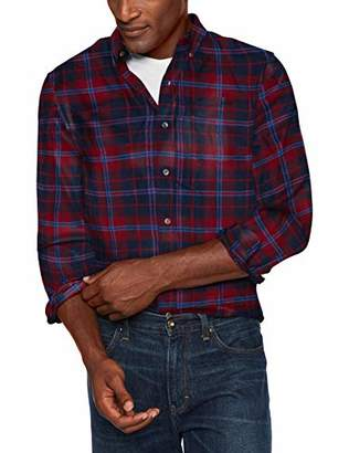 Chaps Men's Classic Fit Long Sleeve Performance Flannel Shirt