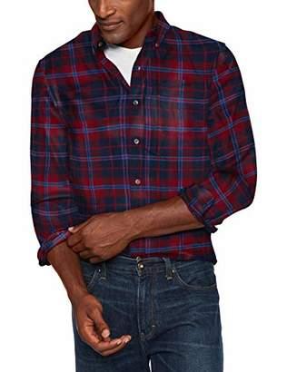 Chaps Men's Classic Fit Long Sleeve Performance Flannel Shirt