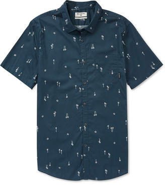 Billabong Printed Cotton Shirt, Little Boys