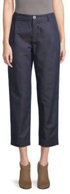 A.P.C. Classic Linen & Cotton Cropped Pants