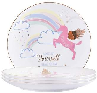 George Home Unicorn Dinner Plate - Set of 4