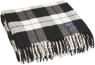 Buffalo David Bitton Check Wool Throw by Faribault WHITE/BLACK