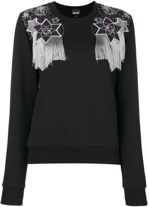 Just Cavalli embroidered fitted sweater