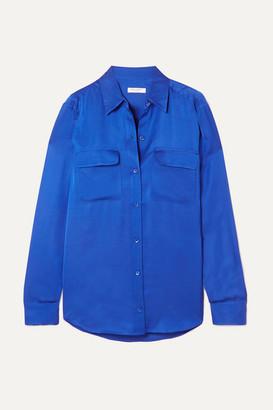 Equipment Signature Satin Shirt - Blue
