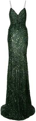 Alex Perry embellished leopard print dress