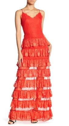 ML Monique Lhuillier Maria Maria Ruffle Dress