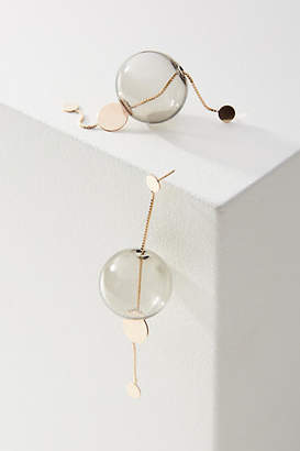 Anthropologie Glassy Long Drop Earrings