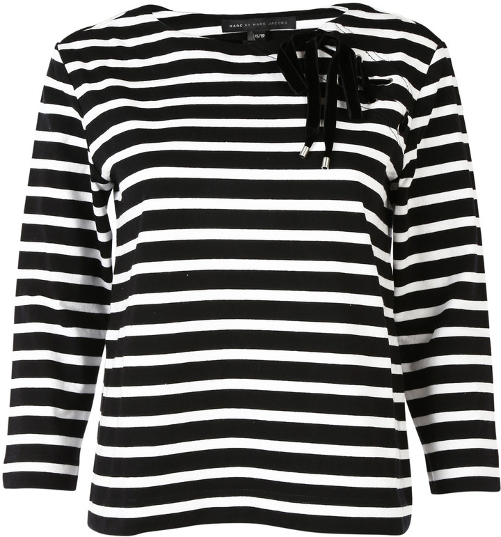 Marc By Marc JacobsMarc By Marc Jacobs Lace-up Detail T-shirt