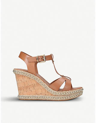 Carvela Karoline leather wedge sandals