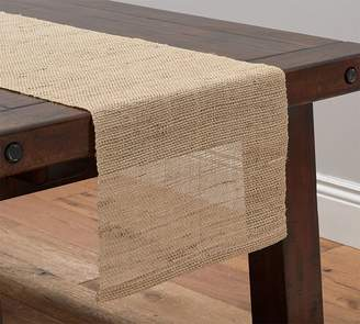 Pottery Barn Open Weave Hemp Fiber Table Runner