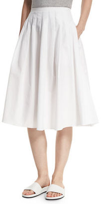 Vince Pleated Midi A-Line Skirt $275 thestylecure.com