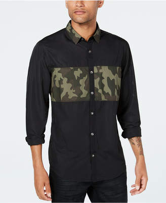 INC International Concepts Inc Men Camo Mesh Shirt