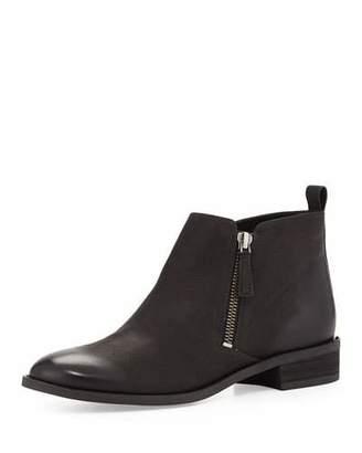 MICHAEL Michael Kors Denver Leather Zip Bootie, Black $199 thestylecure.com