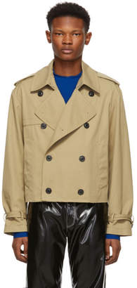 Maison Margiela Beige Cropped Trench Jacket