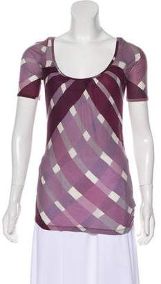 Burberry Printed Short Sleeve Top