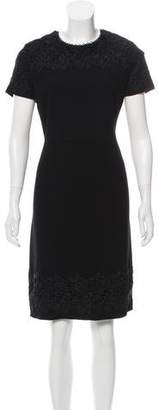 Karl Lagerfeld Lace-Accented Midi Dress w/ Tags