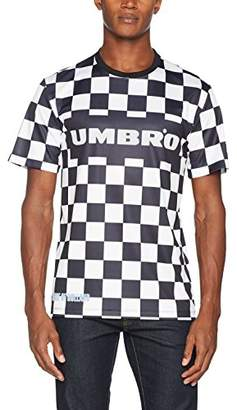 House of Holland Men's Umbro Checkerboard Football Top Casual Shirt,Large