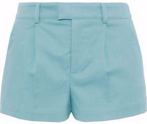 RED Valentino Pleated Cotton-Blend Shorts