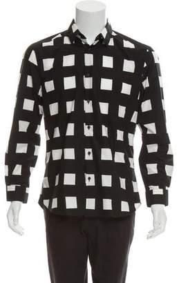 Kenzo Woven Button-Up Shirt