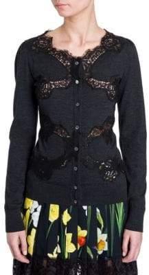 Dolce & Gabbana Lace Trim Cardigan