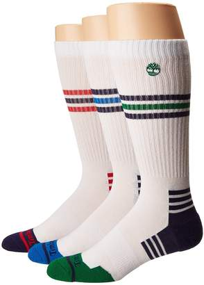 Timberland 3-Pair Pack Combed Cotton Crew Men's Crew Cut Socks Shoes