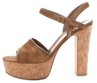 Gucci Suede Leather-Trimmed Sandals