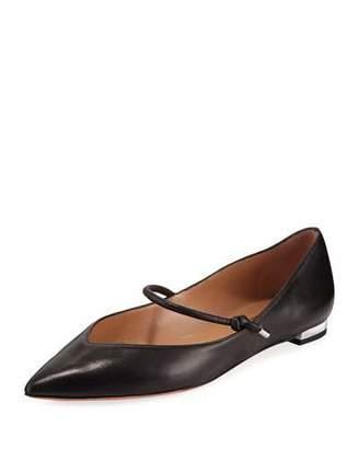 Aquazzura Stylist Leather Mary Jane Ballet Flats
