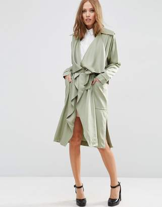 Asos Waterfall Trench in Soft Tencel