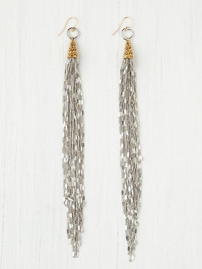 Free People Chain Fringe Earring