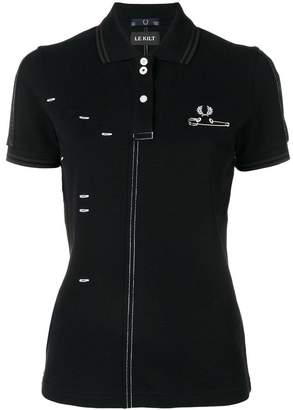 Fred Perry Le Kilt x stitch-detail polo shirt