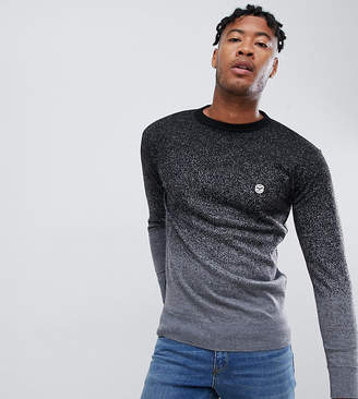 Le Breve TALL Fleck Marl Fade Out Knitted Sweater