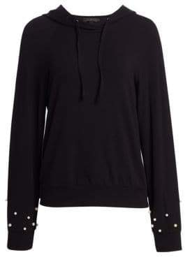 Saks Fifth Avenue COLLECTION Allie Embellished Hoodie