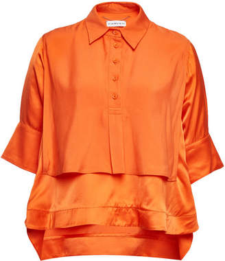 Carven Satin Blouse