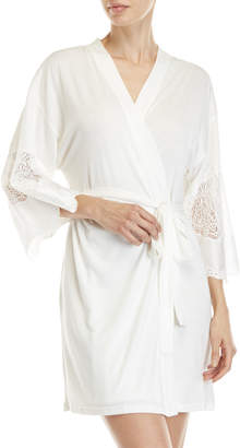 Flora Nikrooz Elsa Knit Lace Short Robe