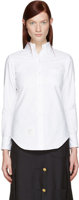 Thom Browne White Classic Shirt $350 thestylecure.com