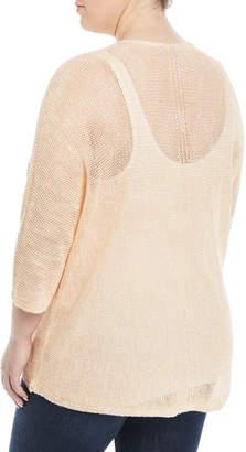 Nic+Zoe Sunkissed Openwork Sweater, Plus Size