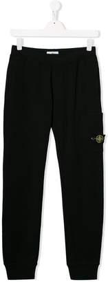 Stone Island Junior TEEN logo patch track pants